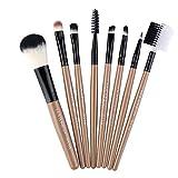 Ebay Makeup Brush Set 7 Set de pinceles para sombra de ojos Eye Makeup Brush Beauty Makeup Makeup Tools (Marrón)