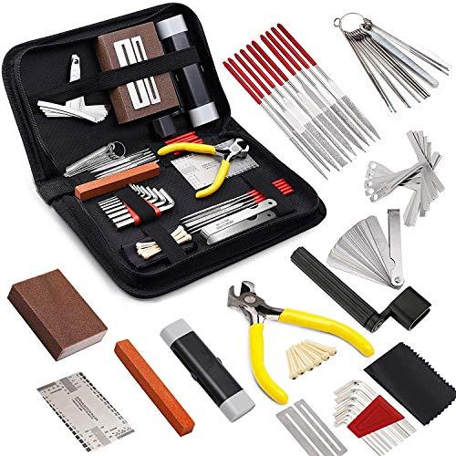 Juego de herramientas de reparación de guitarra, kit de herramientas de limpieza para el cuidado de la guitarra, kit de herramientas de guitarra