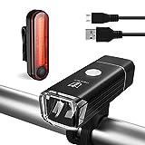 Degbit Bike Light Set, [Upgraded] USB Rechargeable Bicycle Light Mountain Bike Light, Water