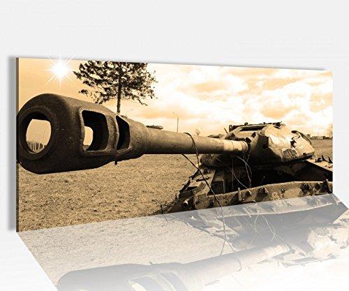 Acrylglasbild 100x40cm Panzer russisch Sepia Tank Waffe Acrylbild Glasbild Acrylglas Acrylglasbilder 14A1513, Acrylglas Größe1:100cmx40cm
