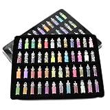 ZXF 48pcs / set colores de la MEZCLA del clavo etiquetas engomadas del arte de las lentejuelas de Paillette extremidades de acrílico del polvo del brillo de Holo UV Gel Nail bricolaje decoración de lo