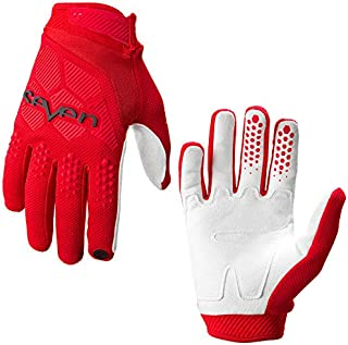 OUYAWEI MTB Cycling Gloves Moumtain Bike Windproof Gloves Off Road MTB Motocross Anti-slid Motorbike Glove red XL Auto Accessories
