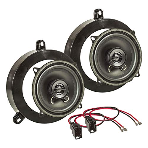 tomzz Audio 4034-002 Lautsprecher Einbau-Set passend für Mercedes C-Klasse W203 S203 hintere Tür 130mm Koaxial System TA13.0-Pro