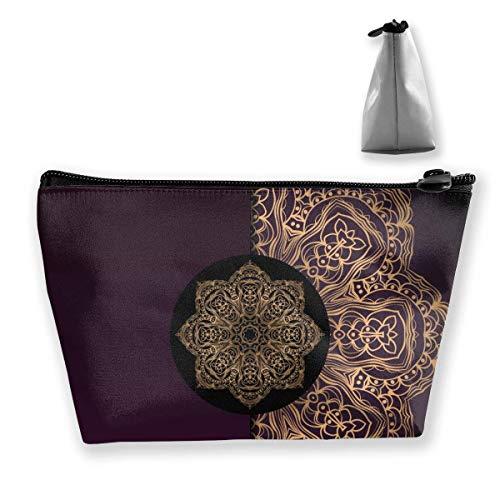 Fondo de Mandala para Portada de Libro Vector Trapezoidal Cosmetic Bags Organizador Bolsa portátil Impermeable para Mujeres Que Llevan Viajes Personalizados