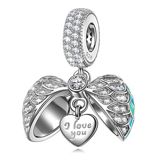 NINAQUEEN Women Dangle Charm 925 Sterling Silver fit for Charm Bracelet Love Locket Pendant Jewelry...