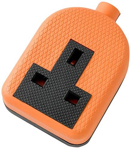 Merriway BH02687 Nylon Extension Socket 13 Amp 1-Gang - Orange