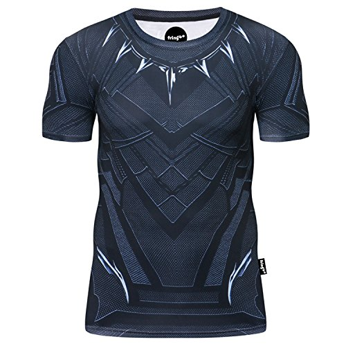 Fringoo® - Camiseta de compresión para hombre, diseño de superhéroe