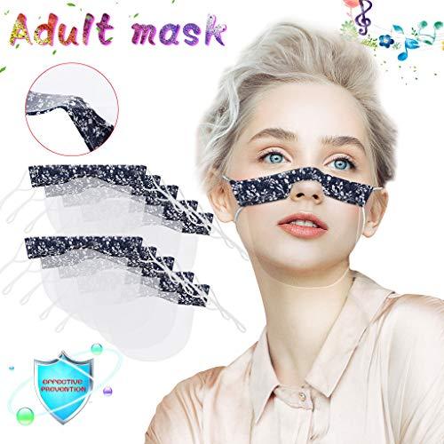 eiuEQIU Safety Mundschutz- Gesichtsschutzschild Kunststoff -Visier Gesichtsschutz in Transparent -Anti-Fog -Anti-Öl Splash -Schutzvisier - Essen Hygiene Spezielle Anti-Saliva Sesichtsschutzschirm