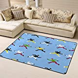 "Area Rug Floor Rug Non-Slip Doormat People Ride On Skatesfor Living Dining Dorm Room Bedroom 63""x48""inches"