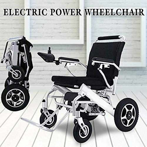 JINKEBIN Electric Rollstuhl Leichte tragbare Faltbare Mobilität Elektrischer Strom-Rollstuhl für alte ältere Menschen mit Behinderungen