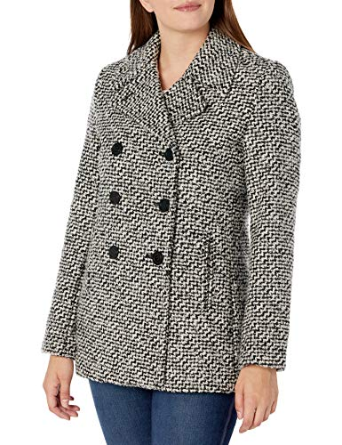 Calvin Klein Plus Size Womens Double Breasted Peacoat, Black, 3X