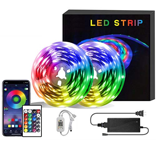 LED Striscia RGB 5050,Duractron led striscia 150 led per Natale,Feste, Decorazioni.(Non Impermeabile) -WiFi + 12V 15m 450 luci + 5A