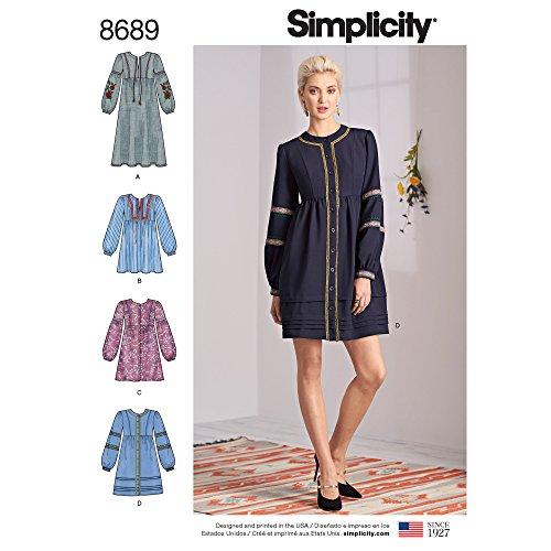 Simplicity Damen Boho Kleid Schnittmuster, Größen 42-50