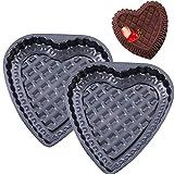 Stampo Forma di Cuore - YUESEN 2PCS Teglia Forma di Cuore Antiaderenti Stampo Dolci Romantici per muffin Torte per pane al cioccolato Gelati Budini Gelatina