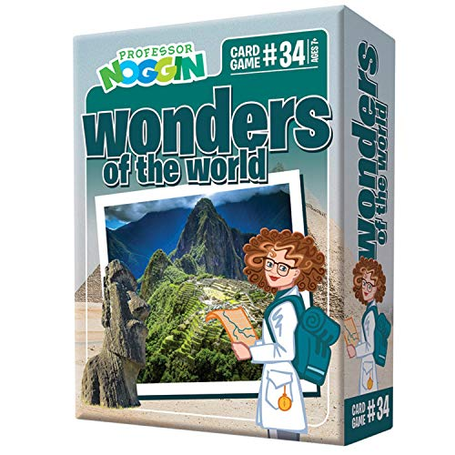 Professor Noggin's Wonders of The World Trivia Card Game - an Educational Trivia Based Card Game for Kids - Trivia, True or False, and Multiple Choice - Ages 7+ - Contains 30 Trivia Cards