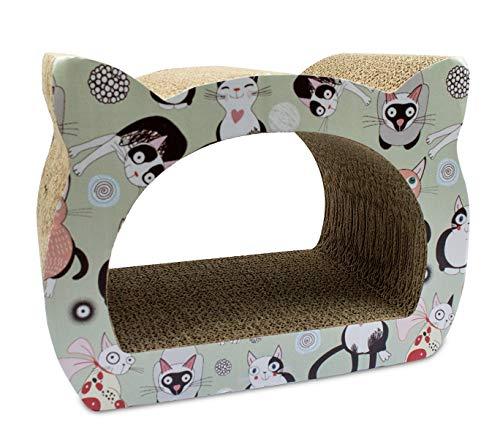 026494 Rascador NOBLEZA para gatosde cartón prensado y impresiones 39x29x22 cm