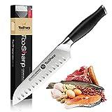 TooSharp Cuchillo Santoku/Seriie Comfort-Pro/Cuchillos de Acero Inoxidable Alto en Carbono X50CrMoV15-7' (180mm)