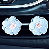 WEIZI 2pcs / Set Perfume de Coches Clip de la Flor de la decoración del ambientador de Aire del automóvil de Aire Acondicionado Vent Perfume Sólido Olor Accesorios Difusor (Color : Light Blue)