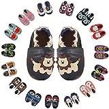 Nasonberg Zapatillas para aprender a andar, para bebé, niños, niñas, gatear, de piel, suela antideslizante, piel suave, para aprender a caminar, color, talla 12-18 meses