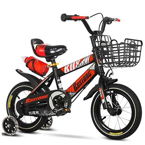 Bicicleta Infantil para niños, Bicicleta Niños del muchacho de la muchacha de los niños de bicicletas 3 colores, 12' 14' 16' 18' for el niño Edad 2-9 años del niño con ruedas de entrenamiento de la bo