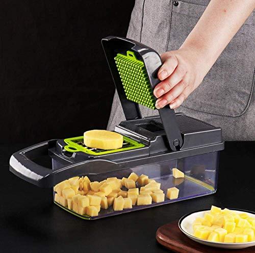 FGA Slicer Black Uso en el hogar Cortadores de Verduras Slicer Veg Chopper Cortadora de Verduras Accesorios de Cocina Mandolin Slicer Peladora de Patatas