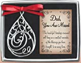 Cathedral Art Dad Teardrop (Abbey & CA Gift) Memorial Ornament