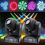 Anhon 2PCS Luces de la etapa Mini iluminación de Escenario con Cabeza móvil 30W Tintec Luces LED para fiesta Spot Stage Lighting DJ Stage Light para Bar Party Event