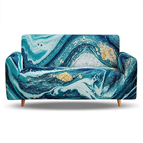 Tanboank Sofabezug 1 2 3 4 Sitzer Sofa,Blaue, Abstrakte Kunstbeschaffenheit Sofa Hussen Stretch Sofa überzug Ecksofa Stretch Sofahusse Couch Cover I Form Sofaüberwurf L Form 145-185 cm