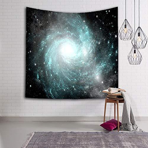 Tapiz de cielo estrellado Tela tejida Planeta Sci-Fi Galaxy Manta decorativa multicolor Manta de cielo estrellado Tapices Interior y sala de estar A21 73x95cm