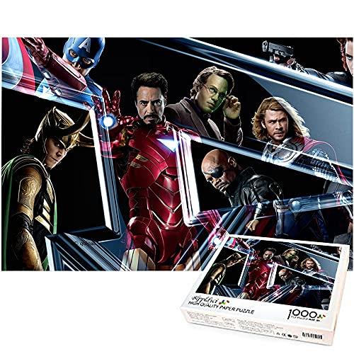 Rompecabezas de 1000 piezas de Iron Man y Loki Los Vengadores Rompecabezas de 1000 piezas Juegos divertidos para padres e hijos regalo de cumpleaños Marvel hero 38x26cm