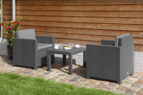 Allibert Lounge Set Victoria Balcony, Grau, 3-teilig - 4