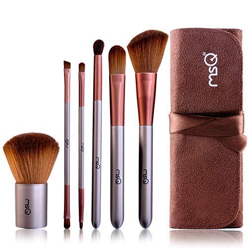 6Pcs Brosse De Maquillage, Brosse De Maquillage Double Tête Avec Un Sac De Brosse, Des Outils De Maquillage De Beauté Profession