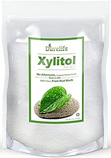 DureLife Birch XYLITOL Sugar Substitute 5 LB Bulk Size (80 OZ) Made From Pure Birch Xylitol In The USA , NON GMO - Gluten Free - Kosher , Packaged In A Large Resealable zipper lock Stand Up Pouch Bag