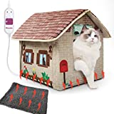 MARUNDA Cat Houses for Outdoor Cats in Winter,Heated Outdoor cat House Weatherproof and Insulated - Easy to Assemble.
