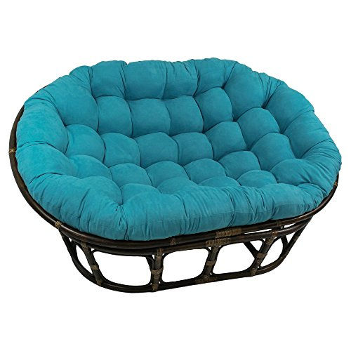 International Caravan Furniture Piece 63x45-Inch Double Papasan with Micro Suede Cushion