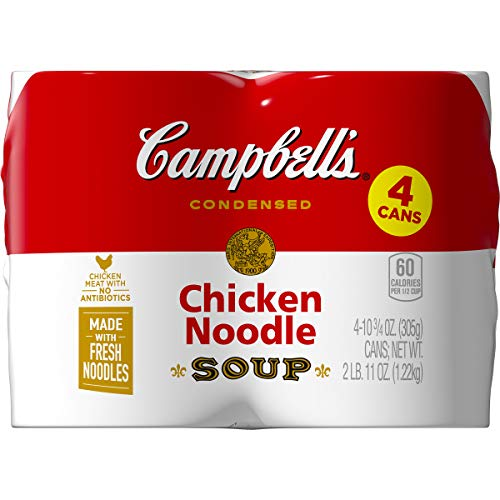 Campbell's Condensed Chicken Noodle Soup, 10.75 oz. Can, 4 Count
