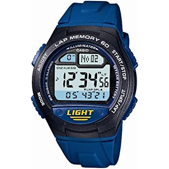 [カシオ] 腕時計 スポーツギア LAP MEMORY 60 W-734J-2AJF ブルー