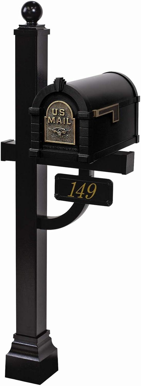 Gaines - Eagle Max 84% OFF Attention brand Keystone Series Antique Black Mailbox Set Custom