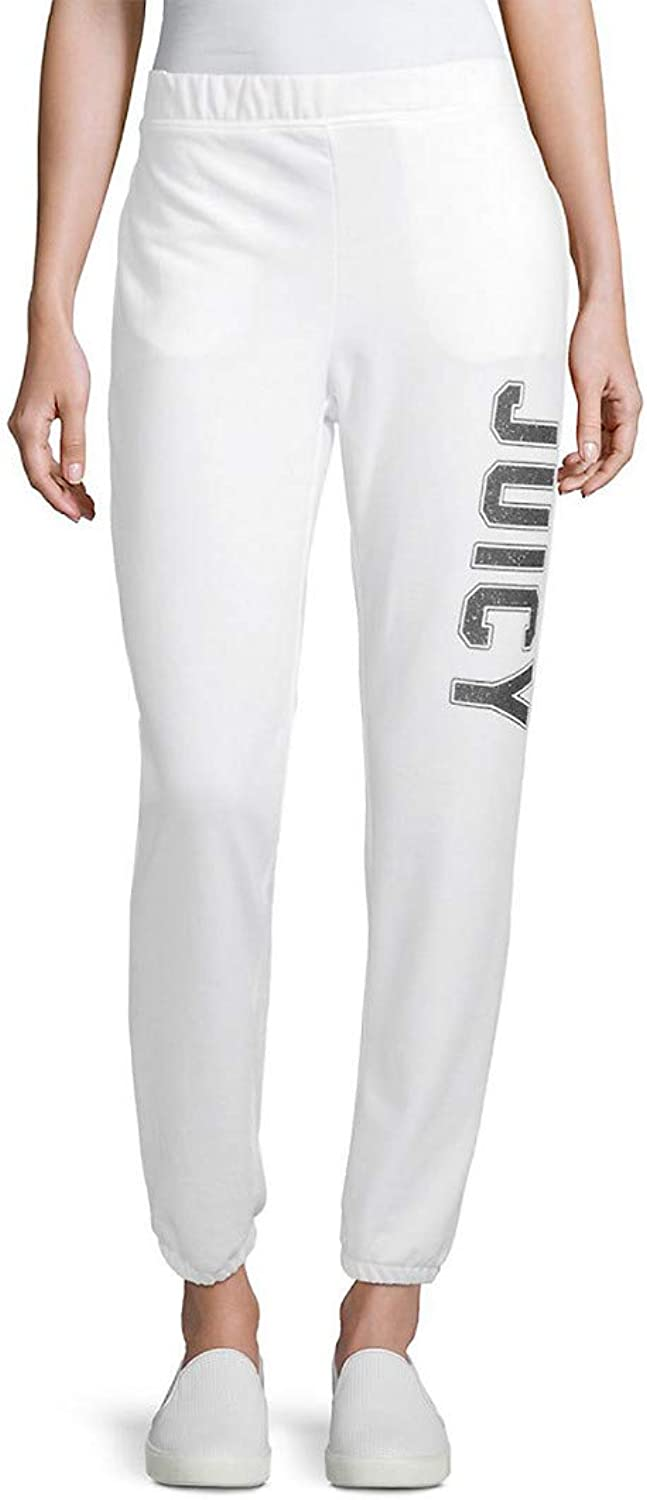 Juicy Couture Womens French Terry Logo Sweatpants