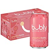 bubly Sparkling Water, Grapefruit, 12 fl oz Cans (Pack of 8)