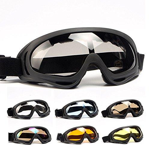 VESNIBA Gafas de esquí, gafas de protección para motocross, deportivas, para deportes de nieve, cortavientos, protección contra el polvo