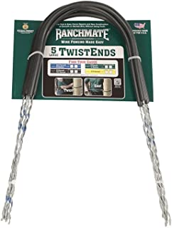 Ranchmate ILTE-18-125C Blue 18 Barbed & 12.5 Gauge Smooth Insulated Large Twistend Pack of 5, 19.25