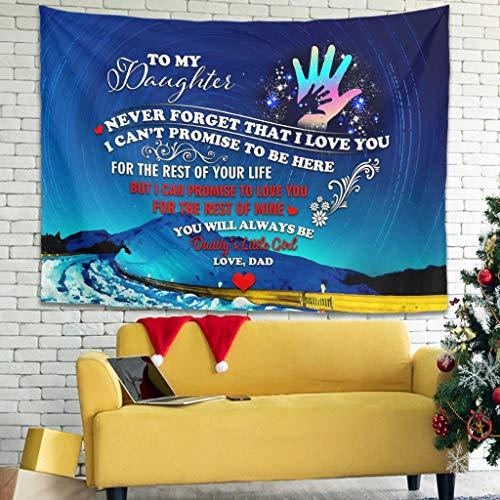 Ballbollbll Tapices decorativos coloridos para colgar en la pared para dormitorio, dormitorio, sala de estar, color blanco, 79 x 59 pulgadas