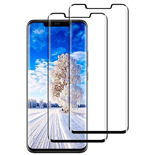 DASFOND Protector Pantalla de Huawei Mate 20 Pro Cristal Templado [Cobertura Completa, 9H Dureza, Alta Definicion, Alta sensibilidad, Protector de Pantalla para Huawei Mate 20 Pro-Negro,2 Piezas