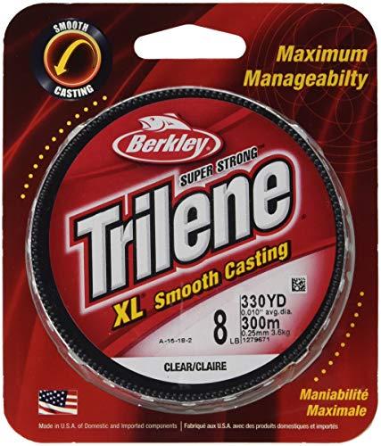 Berkley Trilene XL Smooth Casting Monofilament Service Spools (XLPS14-15), 110 Yd, pound test 14 - Clear