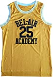 ZYY The Bel Air #25 Carlton Banks Basketball Jersey, Hip Hop Clothes for Party (XL) Yellow