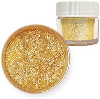 Gold Edible Tinker Dust Edible Glitter 5g Jar | Bakell Food Grade Gourmet Dessert, Foods, Drink Garnish | Pearlized Shimmer Sparkle Sprinkle