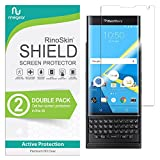 (2-Pack) RinoGear BlackBerry PRIV Screen Protector Case Friendly Screen Protector for BlackBerry PRIV Accessory Full Coverage Clear Film