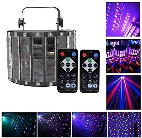 UKing 30W Disco Bühnenlicht,9 Farben LED Stroboskop Licht mit 2 Fernbedienung und 14 Beleuchtungsmodi,Partylicht mit Musik gesteuert/Auto Modus für Party Bar Geburtstag Weihnachtsgeschen