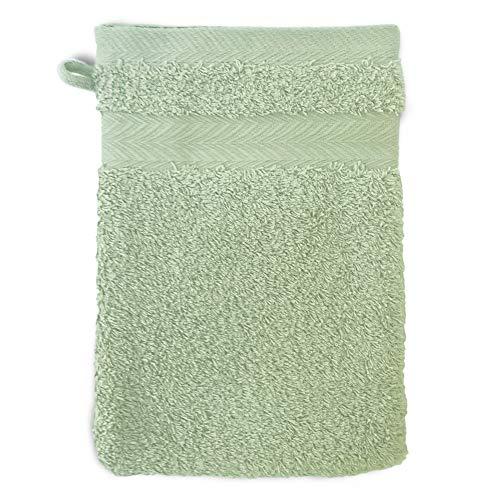 Linnea Gant de Toilette 16x21 cm Royal Cresent Vert Céladon 650 g/m2